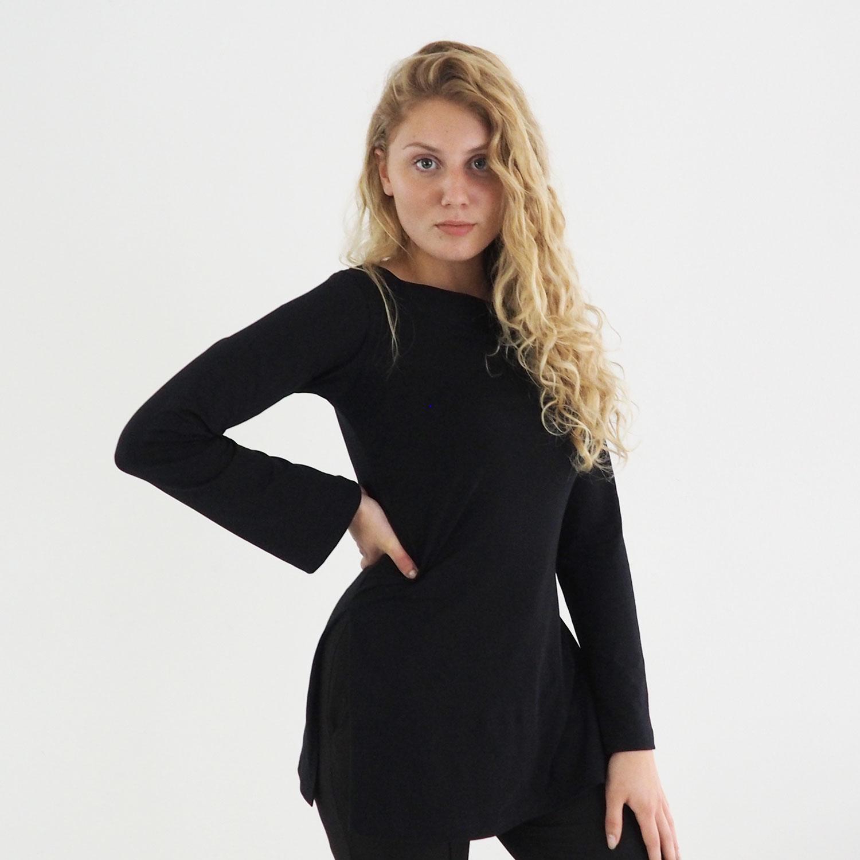 Yoga Shirt Women - Eco Organic Cotton - Long